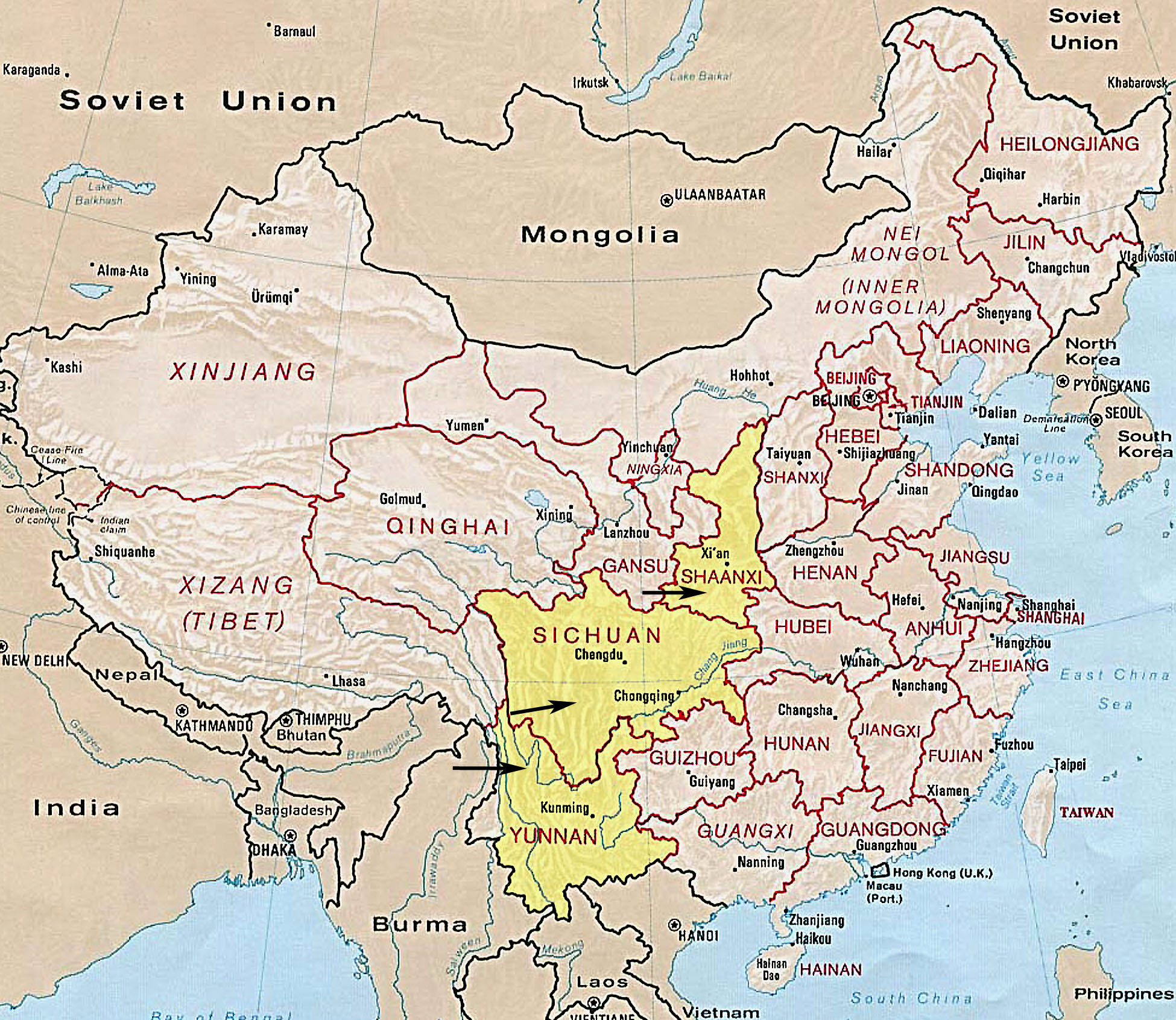 Most Detailed & Largest China Map and Flag – Travel Around The World ...