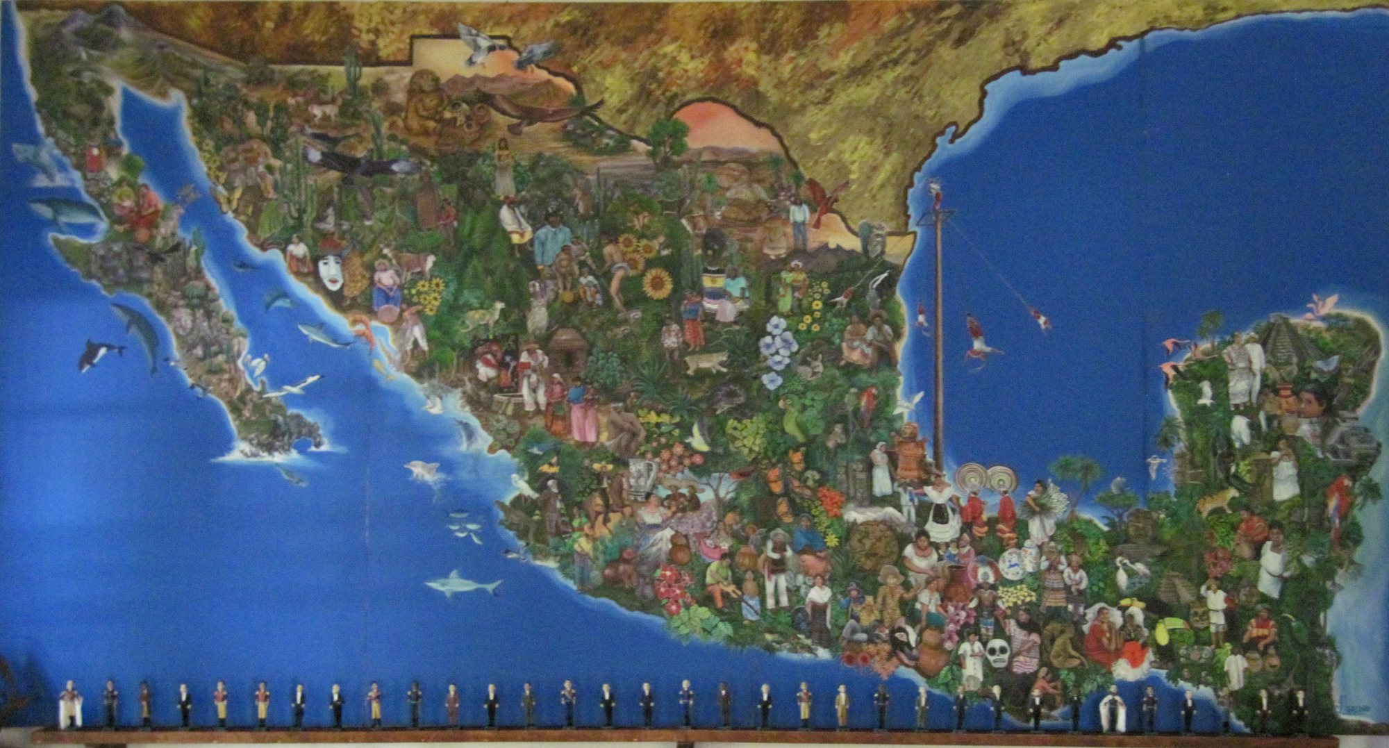 Mexico Tourist Map AOUD – Mexican Tourist Attractions Map