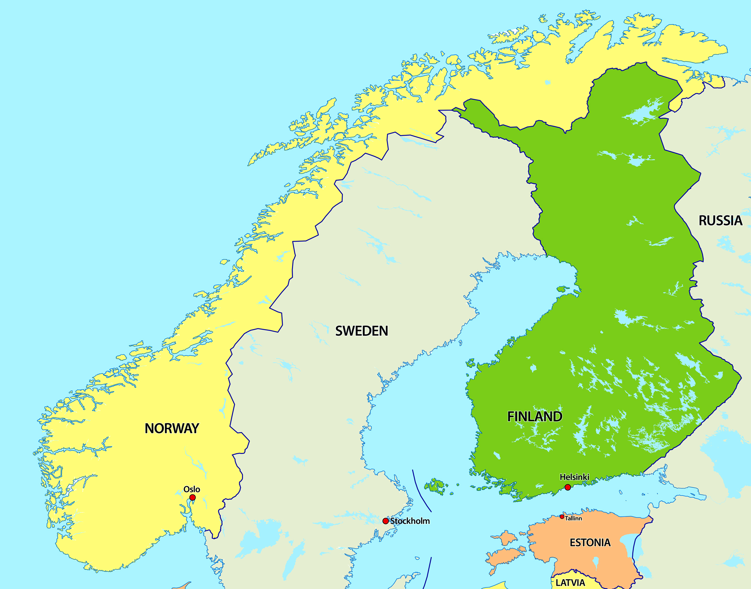 Maps Update 12001142 Europe Map Cities and Countries Political – Map of Northern Europe with Capitals